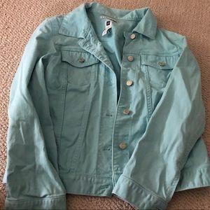 Gap aqua jean jacket
